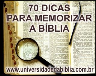 70 dicas para memorizar a Bíblia